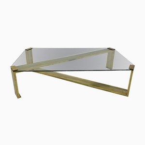 Mesa de centro de metal cromado y latón de Romeo Rega, años 70