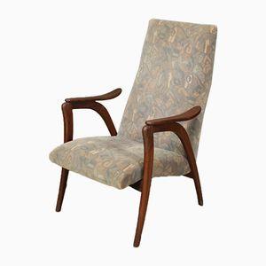 Niederländischer Mid-Century Sessel mit hoher Rückenlehne