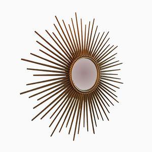 Espejo en forma de sol de Chaty Vallauris, años 60