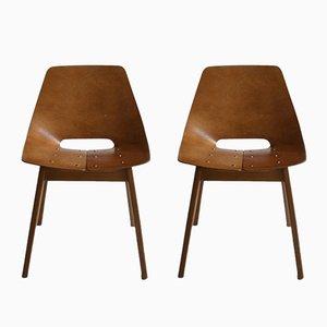Barrel Stühle von Pierre Guariche für Steiner, 2er Set