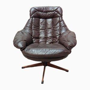 Chaise Vintage en Cuir par H.W. Klein pour Bramin, 1960s