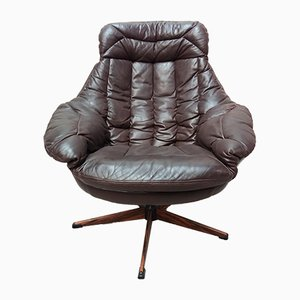 Vintage Leather Chair by H.W. Klein for Bramin, 1960s