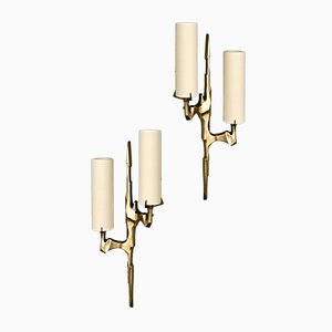 French Bronze Sconces from Arlus, 1960s, Set of 2