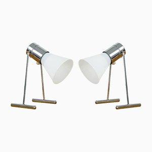 Lampes Flexibles en Verre, 1970s, Set de 2
