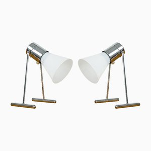 Verstellbare Glaslampen, 1970er, 2er Set