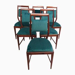 Sedie da pranzo in teak, anni '60, set di 6