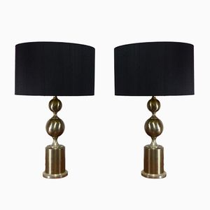 Vintage Space Age Table Lamps, 1970s, Set of 2