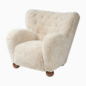 Sheepskin Lounge Chair by Marta Blomstedt, 1930s