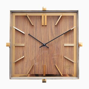 Mid-Century Brass Wall Clock from Atlanta, 1970s