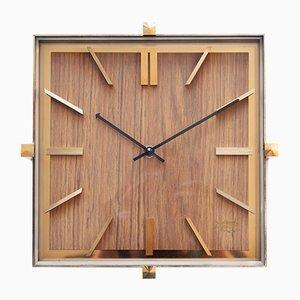Reloj de pared Mid-Century de latón de Atlanta, años 70