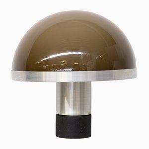 Mushroom Tischlampe mit Aluminiumfuß, 1970er
