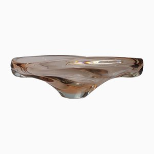 Vintage Glass Bowl by Jan Beranek for Srkdlovice, 1960s