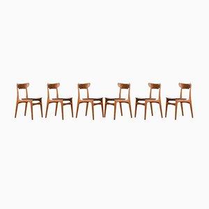 Sedie da pranzo in teak di Schionning & Elgaard per Randers Møbelfabrik, set di 6