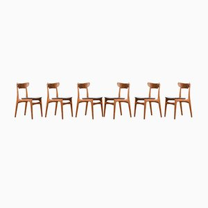 Teak Dining Chairs by Schionning & Elgaard for Randers Møbelfabrik, Set of 6