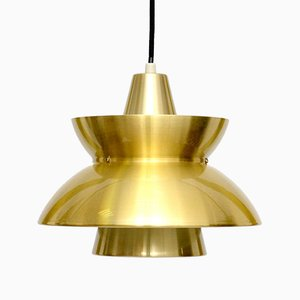 Vintage Brass Søværnspendel Pendant by Jorn Utzon for Nordisk Solar