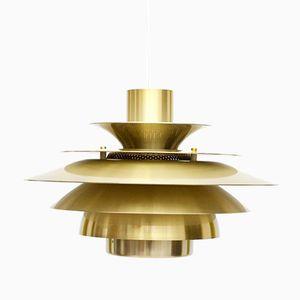 Goldene dänische Verona Lampe von Jeka, 1970er