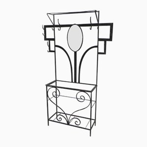 Art Deco Standing Coat Rack with Umbrella Stand