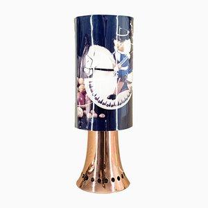 Lámpara giratoria de cobre con motivos navideños de VEB Raumschmuck Herold, años 70