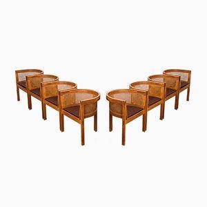 Modell 5 Esszimmerstühle aus Eiche & Schilfrohr von Ilse Rix für Uldum Møbelfabrik, 1961, 8er Set