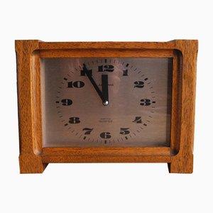 Reloj de mesa vintage de teca de Junghans, años 70