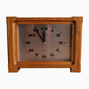 Vintage Teak Table Clock from Junghans, 1970s