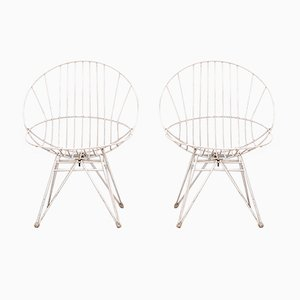 Wire Chairs by Cees Braakman for Pastoe, 1950s, Set of 2