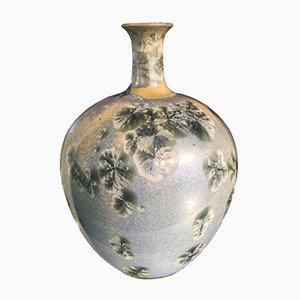 Glasierte französische Vallauris Vase von Marius Bessone, 1960er