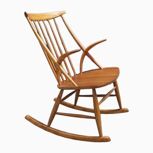 Rocking Chair Modèle IW3 par Illum Wikkelsø pour Niels Eilersen, 1958