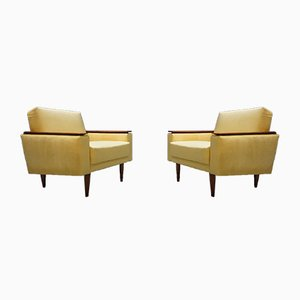 Mid-Century Danish Loungers Club Chairs, Set of 2