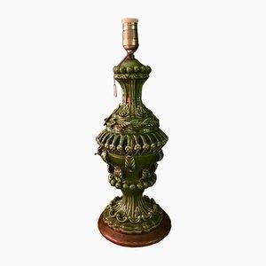 Lampada da tavolo Manises vintage in ceramica