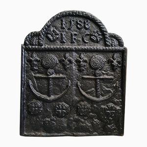 Cast Iron Spanish Armada Fireback, 1588