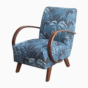 Vintage Palm Print Lounge Chair, 1920s