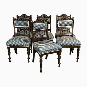 Antique Mahogany Chairs, Set of 6