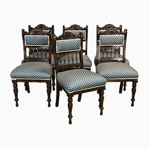 Chaises Antiques en Acajou, Set de 6