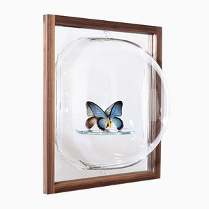 Bubble Showcase Mirror with Glass Shelf and Ash Frame by Studio Thier & van Daalen