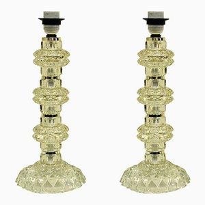 Lampade da tavolo in cristallo di Kosta, Svezia, anni '60, set di 2