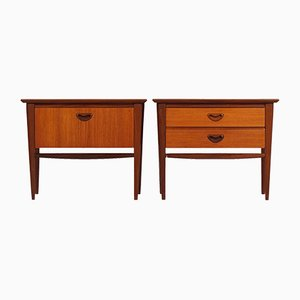 Teak Nightstands by Louis van Teeffelen for Wébé, 1960s, Set of 2