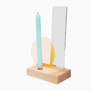 Interior Reflection Table Candleholder with Yellow/Orange Filter from Studio Thier&vanDaalen, 2018