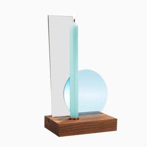 Candelero de mesa Interior Reflections con filtros en azul claro de Studio Thier&vanDaalen, 2018
