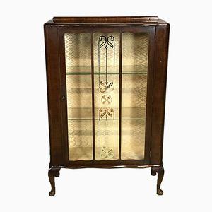 Art Deco Schaukasten aus Nussholz