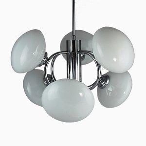 Sputnik Lampe aus Chrom, 1970er