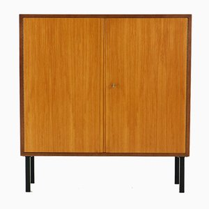 Two-Door Walnut & Ash Cabinet by Georg Satink for WK Möbel, 1950s
