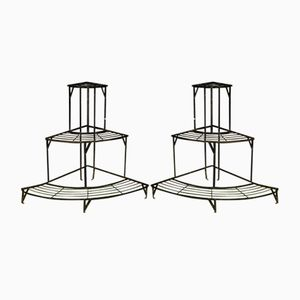 Wrought Iron Plant Stands, 1970s, Set of 2