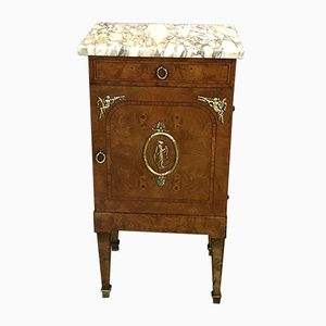 Antique Elm Burl Nightstand