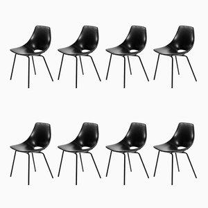 Tonneau Stühle von Pierre Guariche für Steiner, 8er Set
