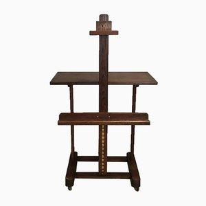 Cavalletto o tavolino in quercia, anni '50
