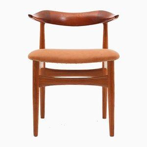 Dänische Mid-Century Cowhorn Stühle von Knud Faerch für Slagelse, 8er Set