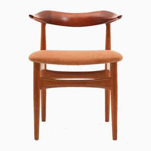 Mid-Century Danish Cowhorn Chairs by Knud Faerch for Slagelse, Set of 8