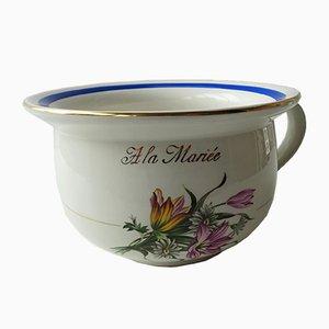 Orinal de porcelana de Orchies Moulin des Loups, años 50