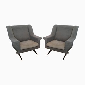 Mid-Century Armlehnstühle, 2er Set
